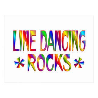 Línea rocas del baile tarjeta postal