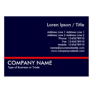 Línea roja - azul marino tarjeta de negocio
