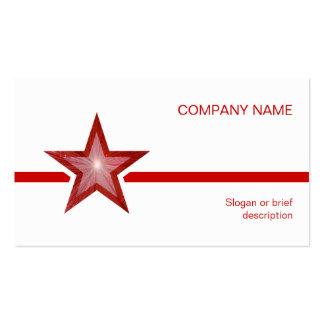 Línea roja blanco de la estrella roja de la planti plantilla de tarjeta de visita