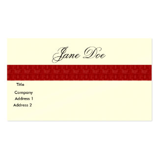 Línea roja de la tarjeta de Businees Plantilla De Tarjeta De Visita
