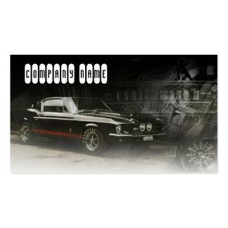 línea roja en coche clásico negro plantilla de tarjeta de visita