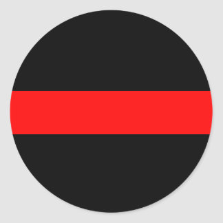 Línea roja fina del bombero pegatinas