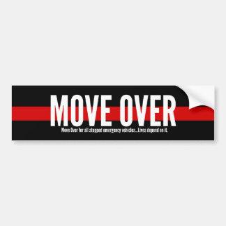 Línea roja fina movimiento sobre pegatina para el pegatina para auto