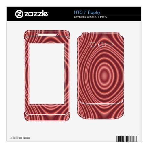 Línea roja modelo calcomanía para HTC 7 trophy