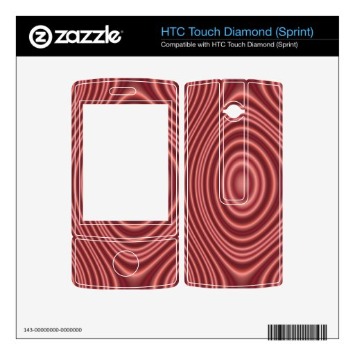 Línea roja modelo HTC touch diamond skins
