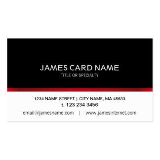Línea roja negra/blanca elegante tarjeta de visita