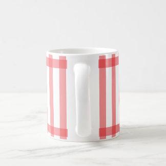 Línea roja simple tazas de café del modelo