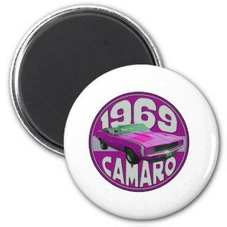 Línea rosada brillante Camaro 1969 Imán