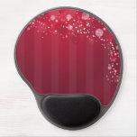 Línea rosada roja diseño del círculo de Abstact Alfombrillas De Ratón Con Gel
