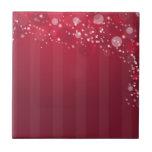 Línea rosada roja diseño del círculo de Abstact Teja