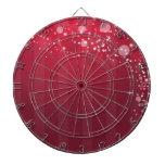 Línea rosada roja diseño del círculo de Abstact Tablero Dardos