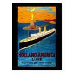 Línea Rotterdam Nueva York de Holanda América Tarjetas Postales