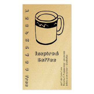Línea sacador de la bebida del café/tarjeta de la tarjetas de visita