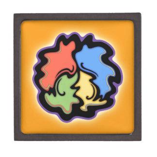 Línea signo de la paz de Swirly Cajas De Joyas De Calidad