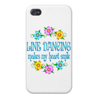 Línea sonrisas del baile iPhone 4 cárcasa