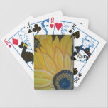 "LineA Sunflower Duo Bicycle Playing Cards<br><div class=""desc"">A beautiful one of a kind image of flowers bursting into bloom. Originally hand Painted acrylic on canvas.</div>"