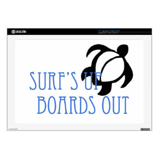 """LineA Surf's Up Boards Out 17"""" Laptop Skin"""