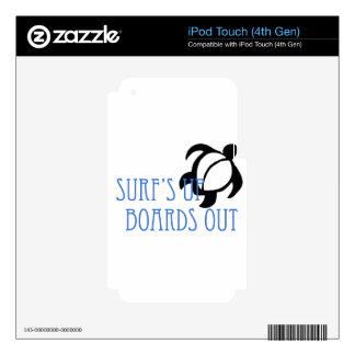 LineA Surf's Up Boards Out Decal For iPod Touch 4G