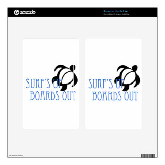 LineA Surf's Up Boards Out Decals For Kindle Fire