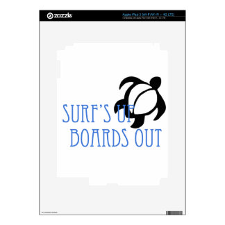 LineA Surf's Up Boards Out iPad 3 Skin