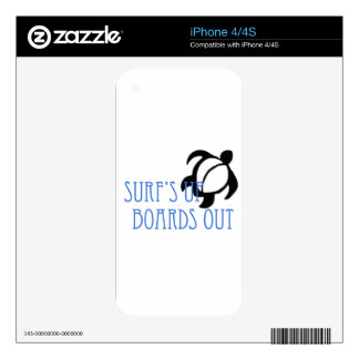 LineA Surf's Up Boards Out iPhone 4 Decals