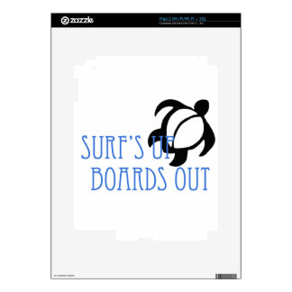 LineA Surf's Up Boards Out Skin For iPad 2