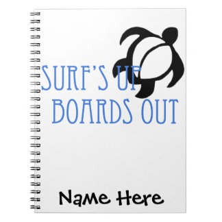 LineA Surf's Up Boards Out Spiral Notebook