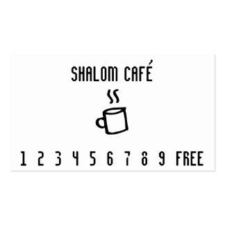 Línea tarjeta de la taza de café de sacador del tarjetas de visita