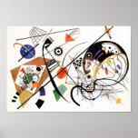 Línea transversal poster de Kandinsky