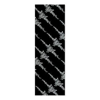 Línea tribal señal blanca del amor mágico del dibu tarjetas de visita mini