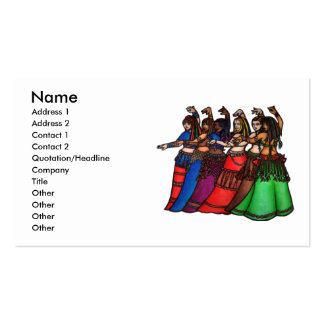 Línea tribal tarjetas de visita de la bailarina de