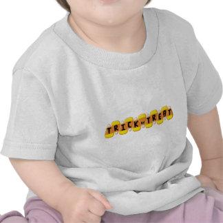 Línea truco de las pastillas de caramelo o camisetas