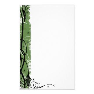 línea verde del swirlie papeleria de diseño