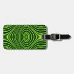 Línea verde oscuro modelo etiquetas maletas