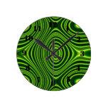 Línea verde oscuro modelo reloj