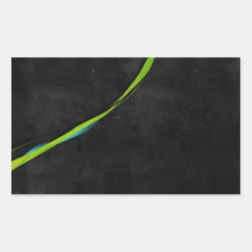 Línea Verde simple abstracta a través Rectangular Altavoz