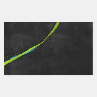 Línea Verde simple abstracta a través Pegatina Rectangular