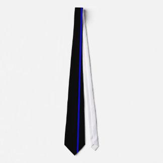 Línea vertical fina azul en la derecha compensada corbatas personalizadas