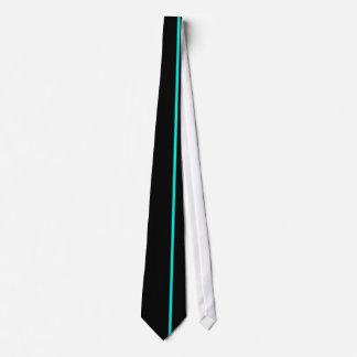 Línea vertical fina de la turquesa brillante en corbatas