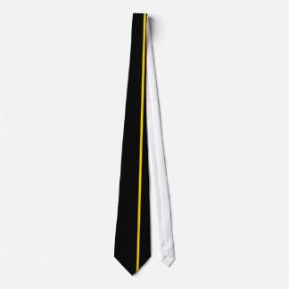 Línea vertical fina del oro en la derecha corbatas