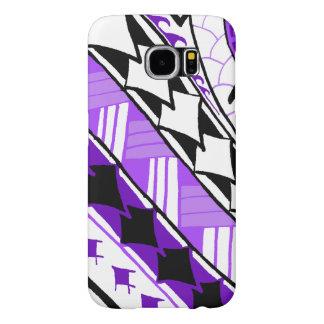LineA White & Purple Polynesian Tattoo Samsung Galaxy S6 Case