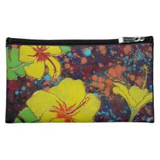 LineA Yellow Hibiscus Makeup Bag
