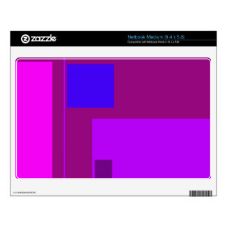 Linear Beauty Purple Medium Netbook Decal