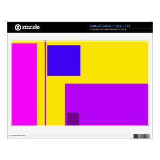 Linear Beauty Yellow Netbook Skins