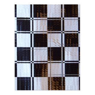 Linear Checkerboard Pattern Postcard