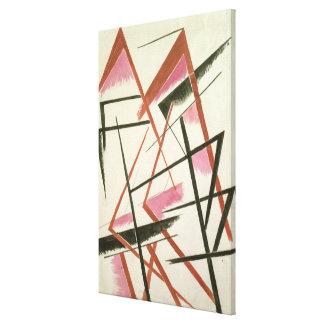 Linear Construction, c.1921 (gouache on paper) Canvas Print
