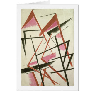 Linear Construction, c.1921 (gouache on paper) Greeting Cards