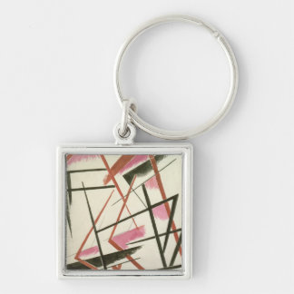 Linear Construction, c.1921 (gouache on paper) Keychain