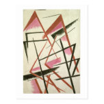Linear Construction, c.1921 (gouache on paper) Postcard
