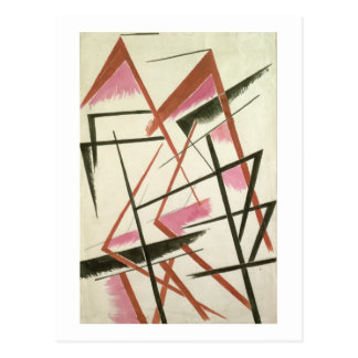 Linear Construction, c.1921 (gouache on paper) Postcard
